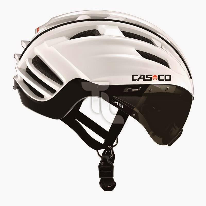 Casco Speedster Helm weiß-schwarz mit Visier schwarz Radhelm Triathlonladen NEU