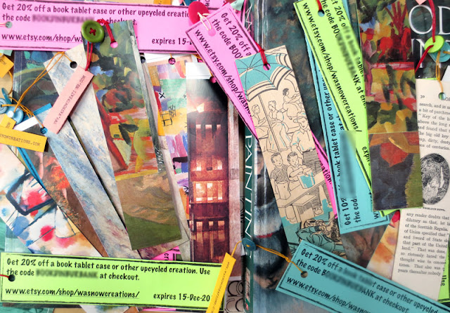 upcycled bookmarks