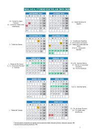 CALENDARIO ESCOLAR 19-20