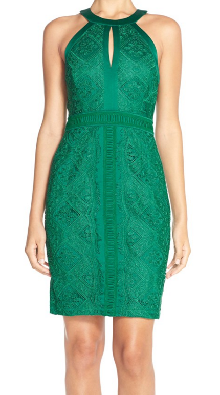 Perfect festive green holiday dress