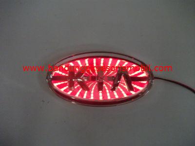 Front Logo + Lampu 3D KIA Merah