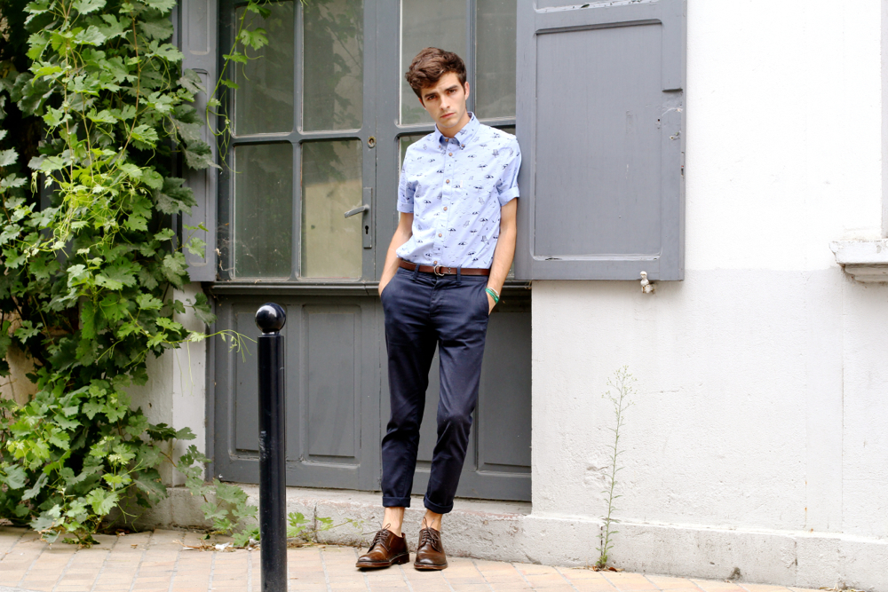 BLOG-MODE-HOMME_Preppy-Dandy_Bordeaux_Ben-Sherman_Chemise_Asos-chino_Jack-and-jones_Frye-company_cordovan_miansai_chemisette