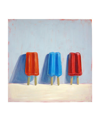 popsicle painting, twin pop painting, junk food art, still life