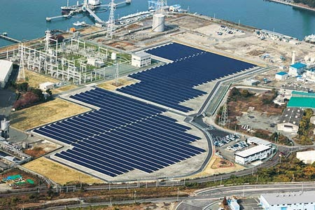 Kyushu Electric Power Co., Inc.s Omuta Mega-Solar Power Plant (Fukuoka Pref., Japan) (Credit: solarnovus.com) Click to Enlarge.