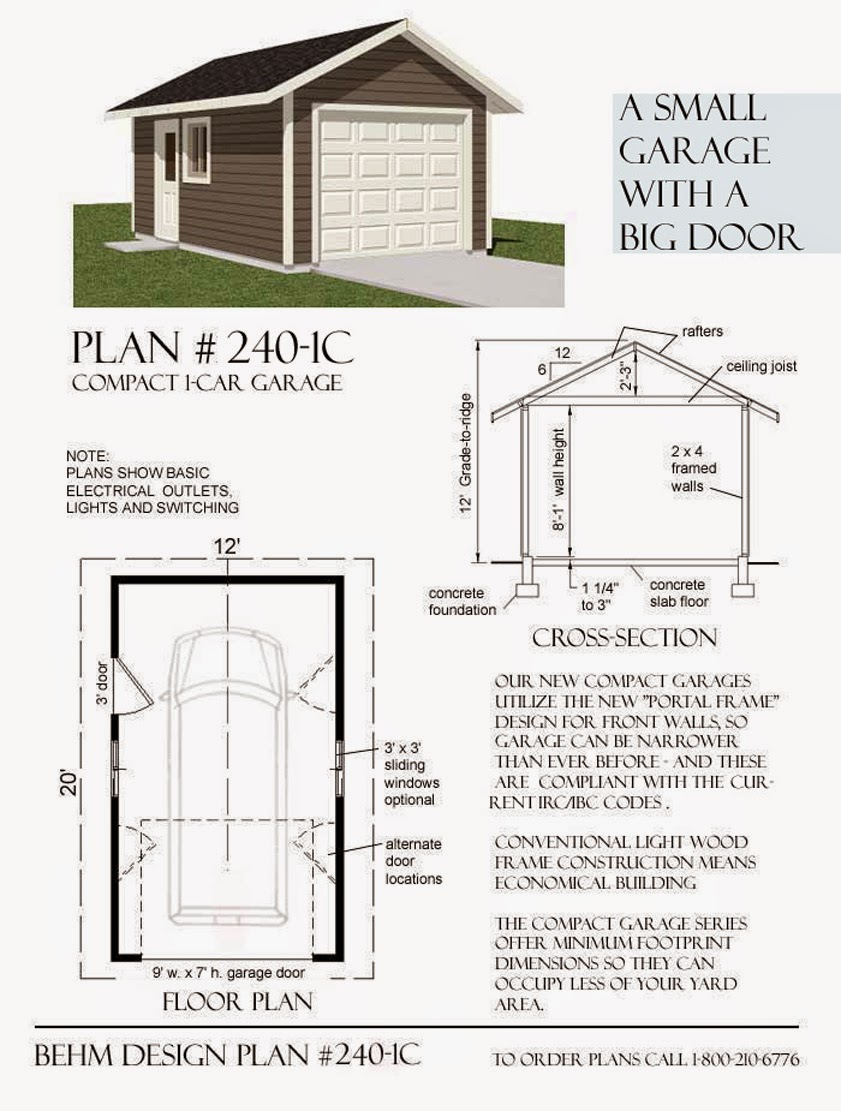 Garage plans blog behm design garage plan examples for How wide is a 3 car garage
