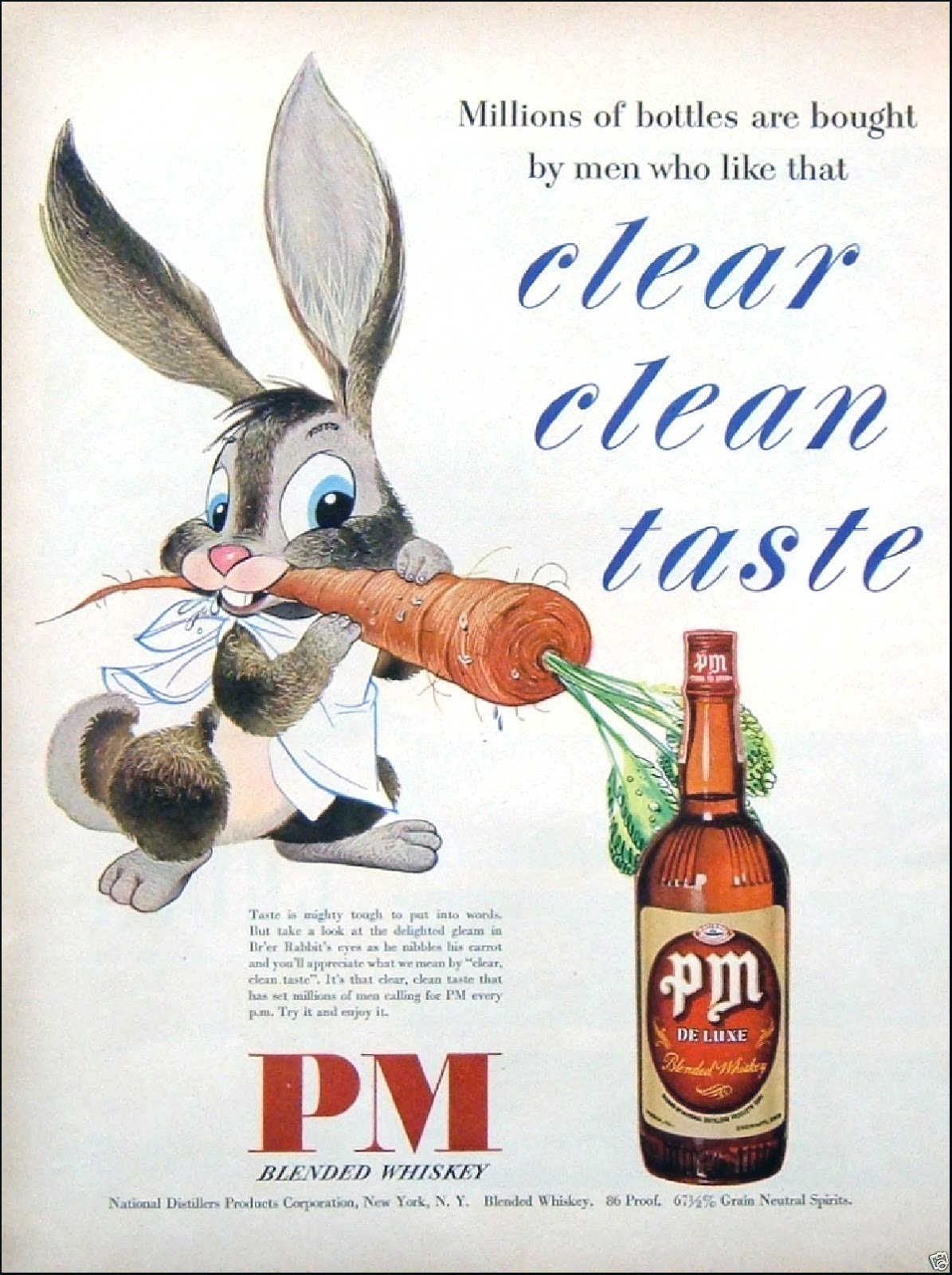 PM De Luxe Blended Whiskey - 1949