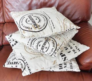 4 Housses de coussin fermeture portefeuille en tissu imitation sac de transport en jute pour café en grains