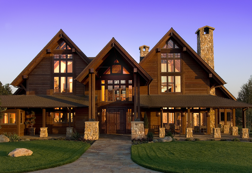 Mansions one can dream on pinterest mansions dream for Timber frame ranch home plans