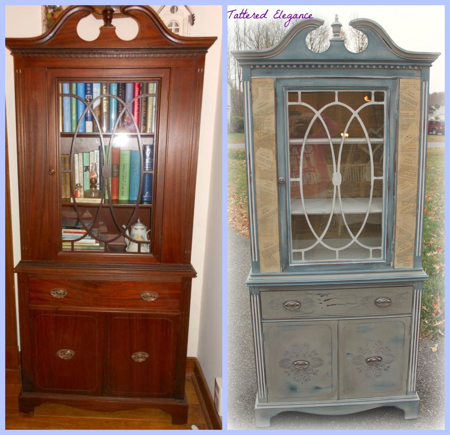 I First Painted The Entire Piece In A Custom Mix Of Annie Sloanu0027s  Decorative Chalk Paint In Napoleonic Blue, French Linen, And American Paint  Co.