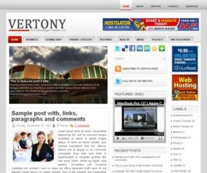 Vertony Blogger Template