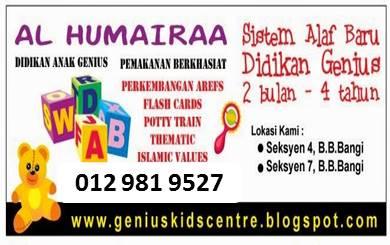alHumairaaKids = GeniusKidsCentre  = TASKA Al Humairaa & TADIKA  Zuri@Millenia