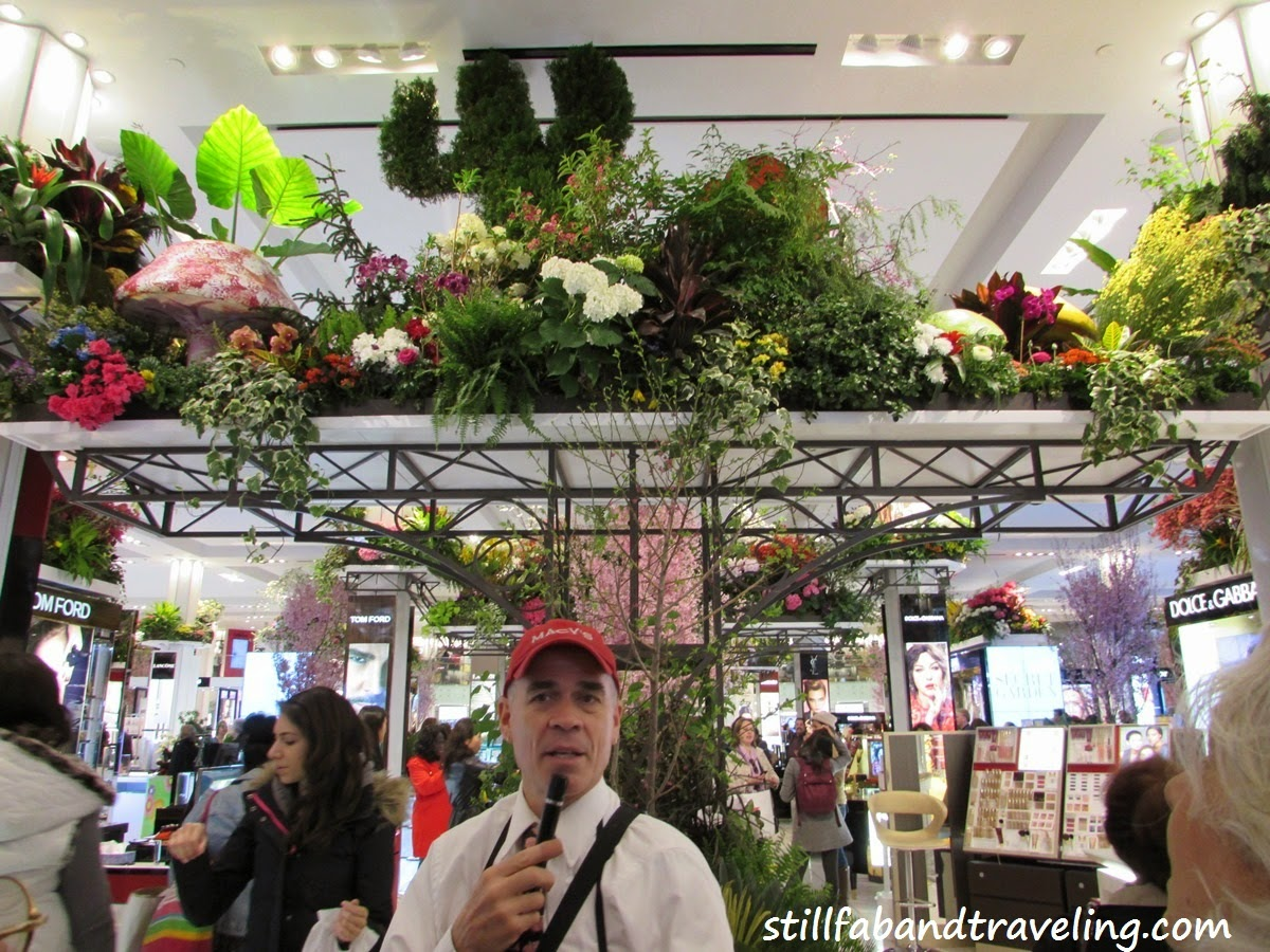 Tour guy at the Macy's Flower Show in NYC