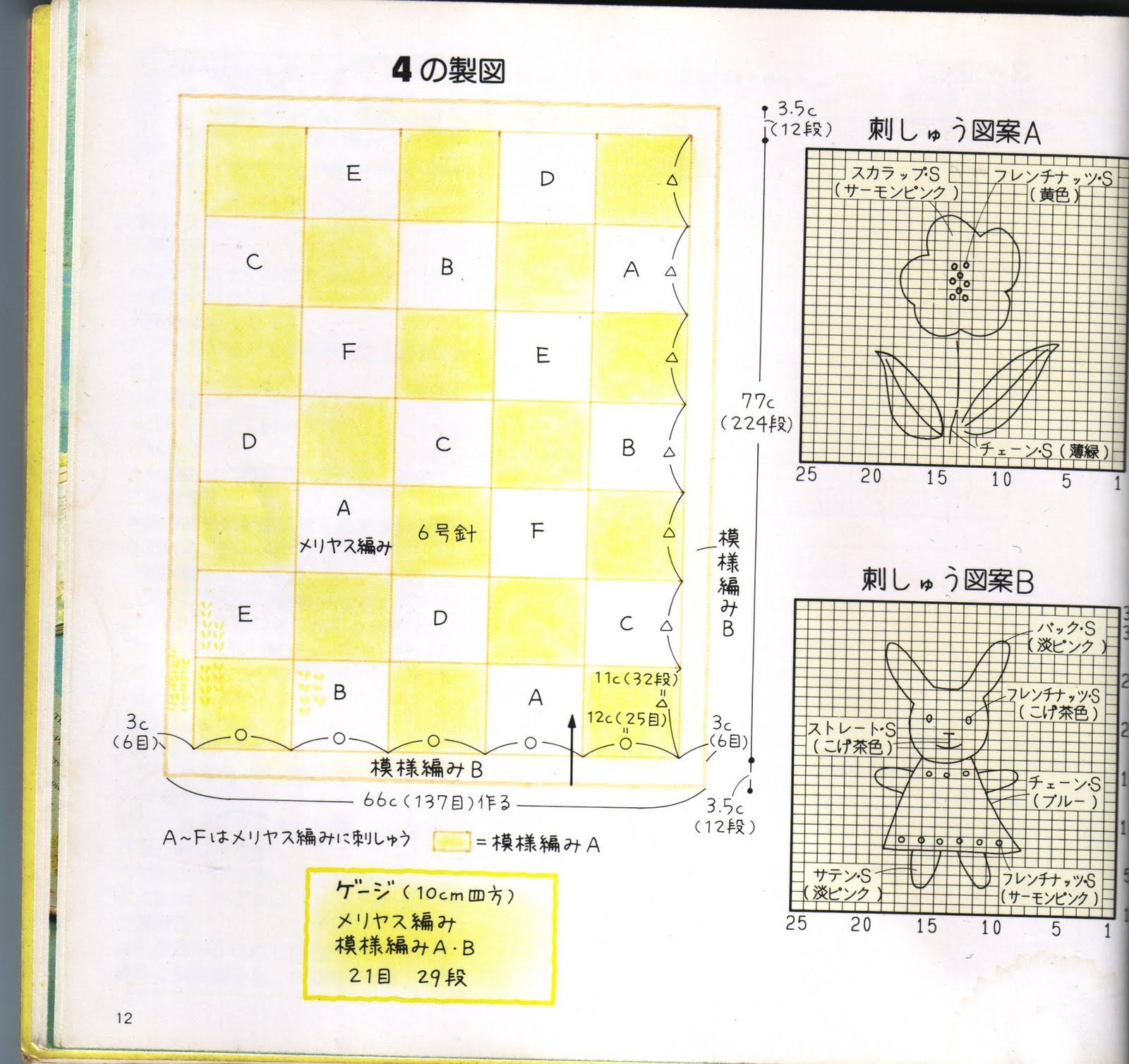 Японские схемы покрывал