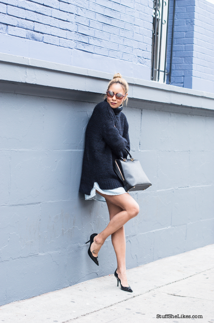 how to layer sweaters, shirt dress, top blogger, Los Angeles blogger, best LA bloggers, west coast bloggers, black fashion bloggers, blonde fashion bloggers