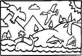 God Created The World In Days Coloring Pages