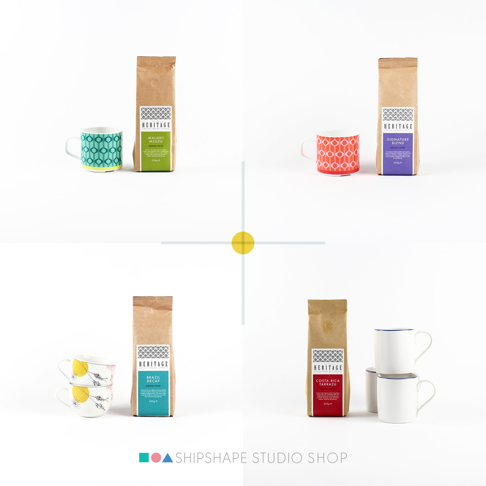 Ground roasted coffee range from Shipshape Studio