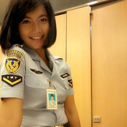 Theresia Mariana Susanti Pramugari Cantik di Pesawat Kepresidenan RI