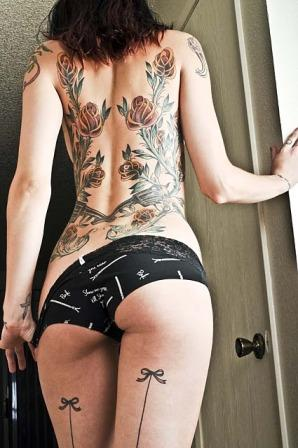Women Full Back Tattoos