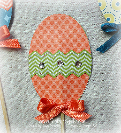 Patterned Paper Easter Eggs Detail