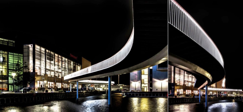 Pont Haut pour les Cyclistes à Copenhague