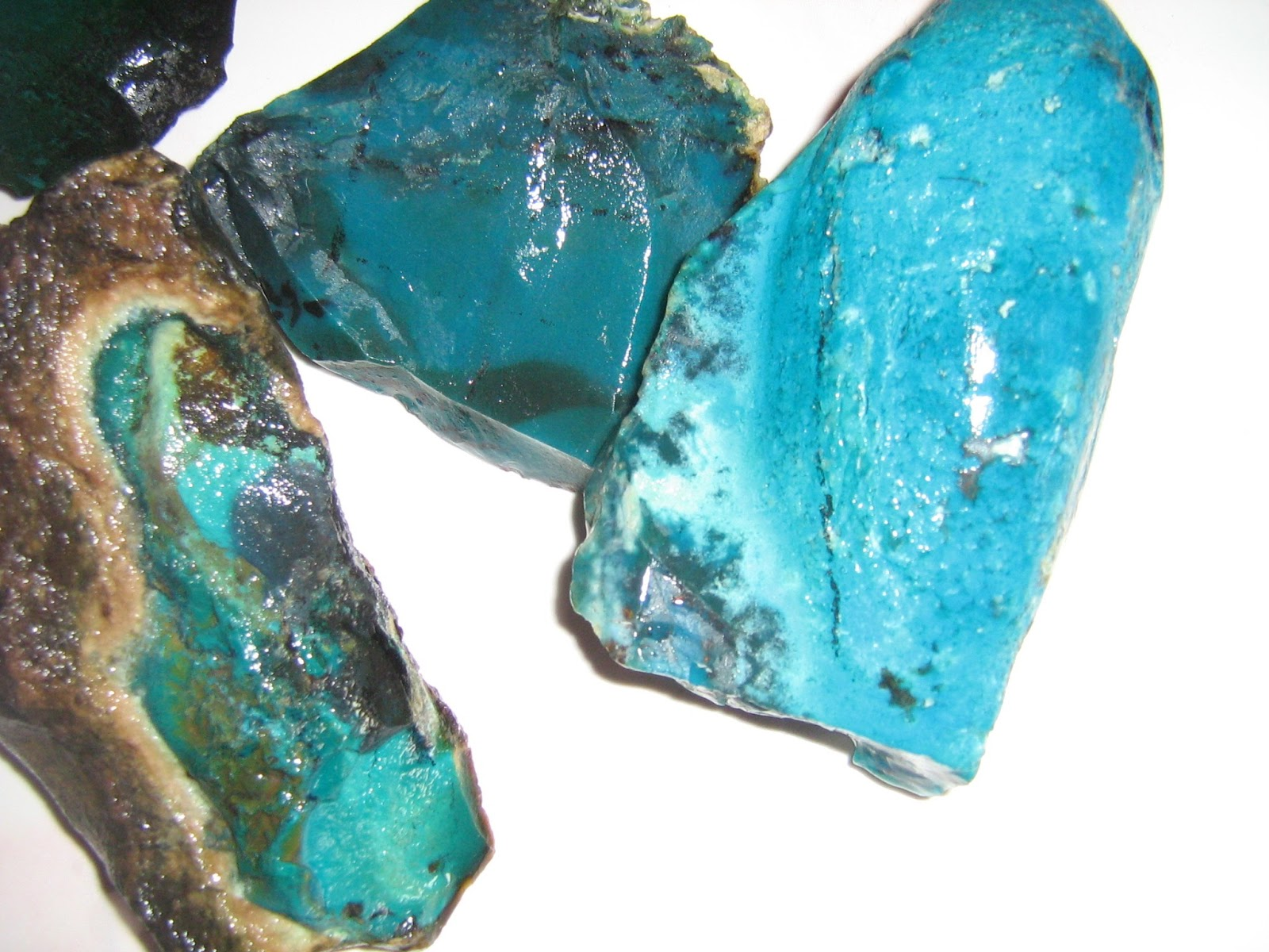 Jade (Batu Bacan) roughs from the Indonesian Islands of Bacan ...