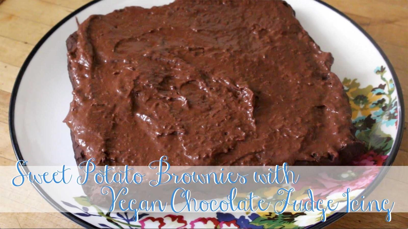 SWEET POTATO BROWNIES + VEGAN CHOCOLATE FUDGE ICING VIDEO