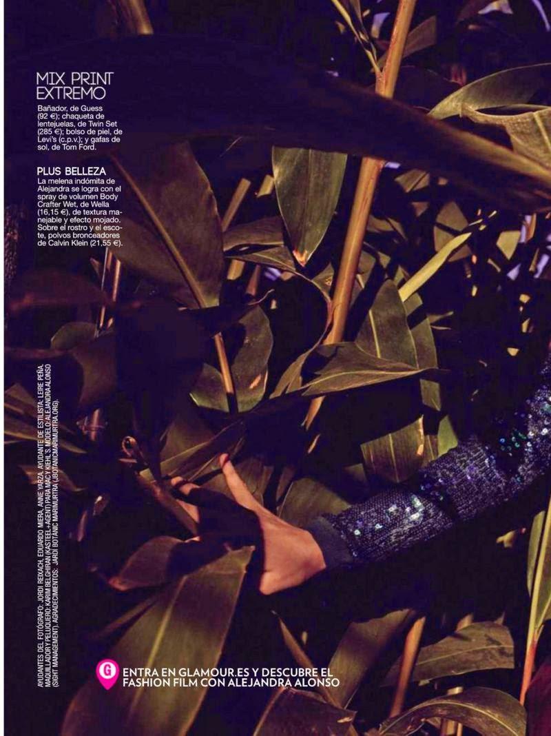 Alejandra Alonso For Glamour Magazine, Spain, July 2014