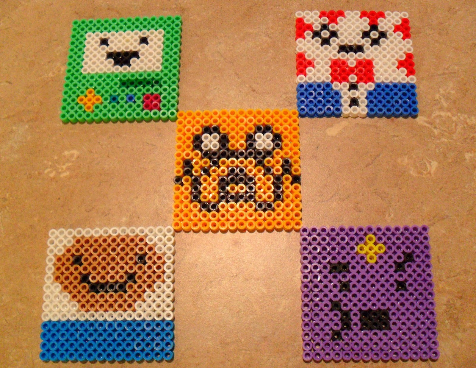 student to student adventure time perler bead