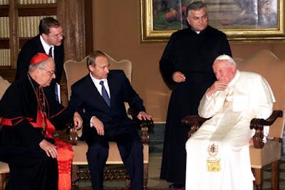 Vatican City - Putin meets Pope John Paul II  June 5, 2000