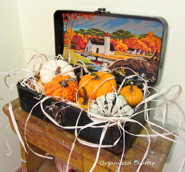 Autumn Projects & Vignettes www.organizedclutterqueen.blogspot.com