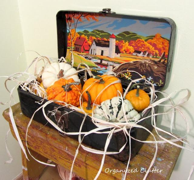 Autumn Projects & Vignettes www.organizedclutterqueen.blogspot.com