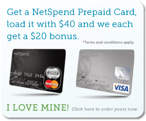 Get Your NetSpend Card Today!
