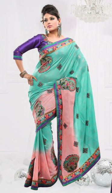 Party-Wear-Saree-2012