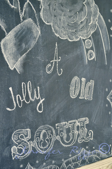Cute holiday chalk board lettering