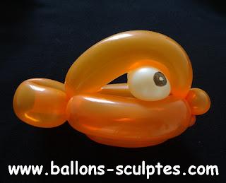 poisson Némo en ballons