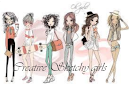 I design for: Creative Sketchy Girls