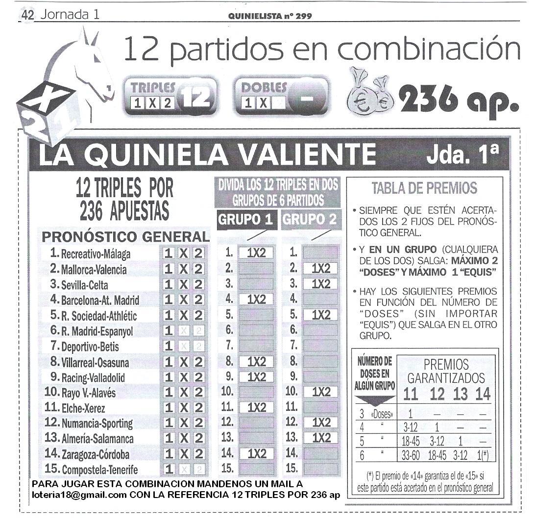 hora escrutinio quiniela: