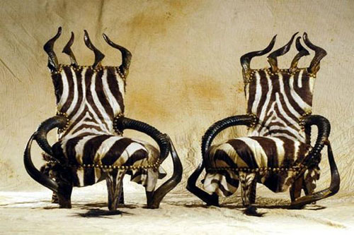 Ordinaire Michel Haillard, A French Furniture Designer Success To Create Unique  Unusual Table Chair Furniture Design Of Animal Skin Furniture As French  Style ...