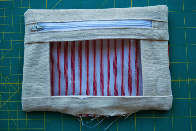 Step four: birthing the pouch and finishing up
