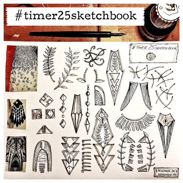 Milliande Timer 25 Sketchbook Studies - Day 6