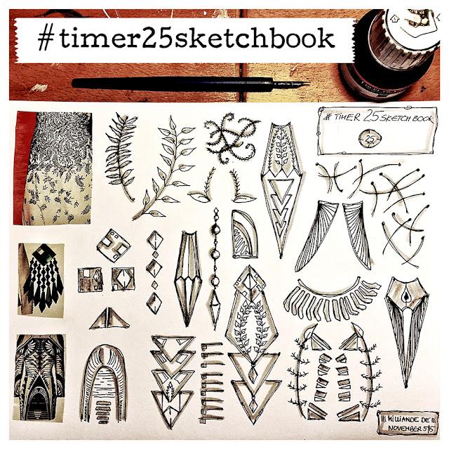 Milliande Timer 25 Sketchbook Studies - Day 6