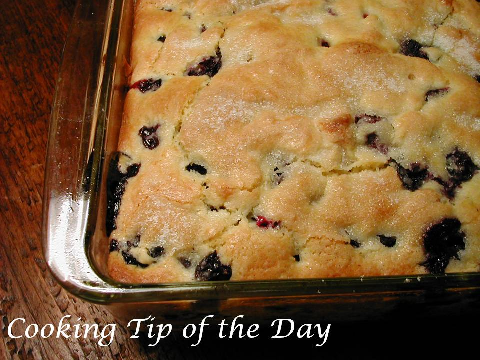 Cooking Tip of the Day: Blueberry Buttermilk Coffee Cake