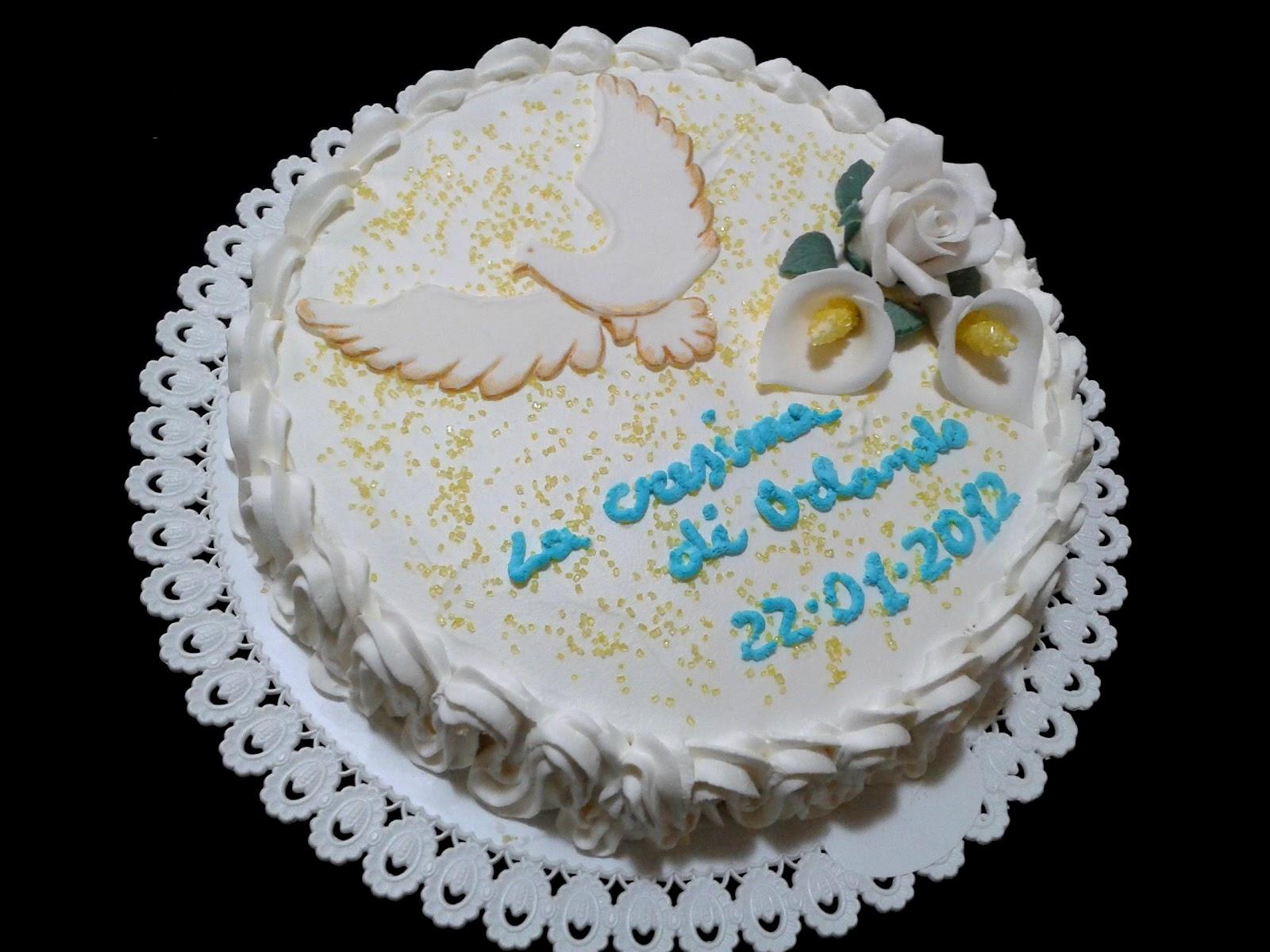 Alessandra e i suoi dolci torta cresima - Decorazioni per cresima ...