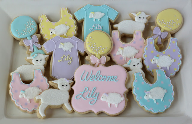 mary had a little lamb baby shower cookies