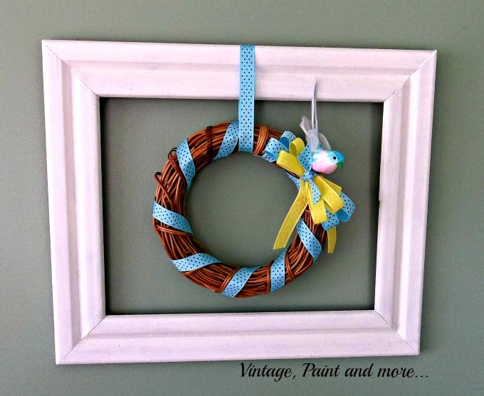 Framed Wreath -how to make a wreath in frame,