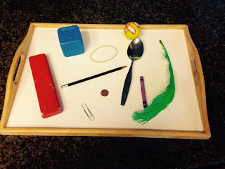 Items for sink or float activity in preschool