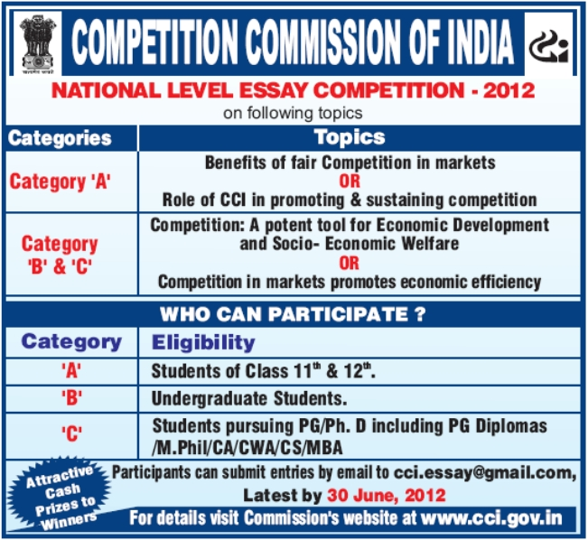 national essay competition india 2010 The council for economic education will host the 19th annual national economics challenge in new  challenge competition  2010 winners 2018 national.