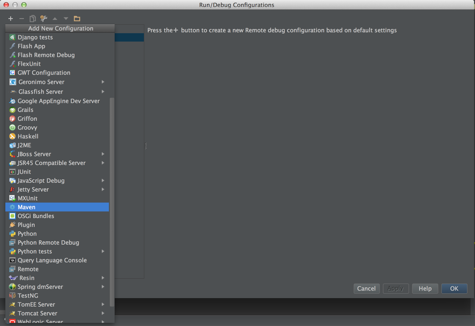 intellij how to run a maven project