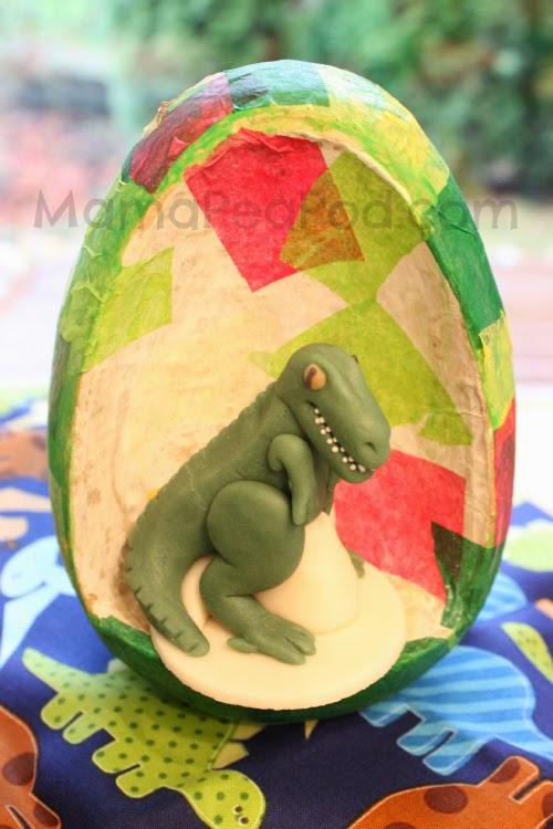 dinosaur egg decoupage craft