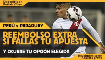 betfair reembolso 25 euros Copa America Peru vs Paraguay 4 julio